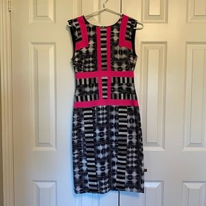 Fitted dress from BCBG with neon piping.